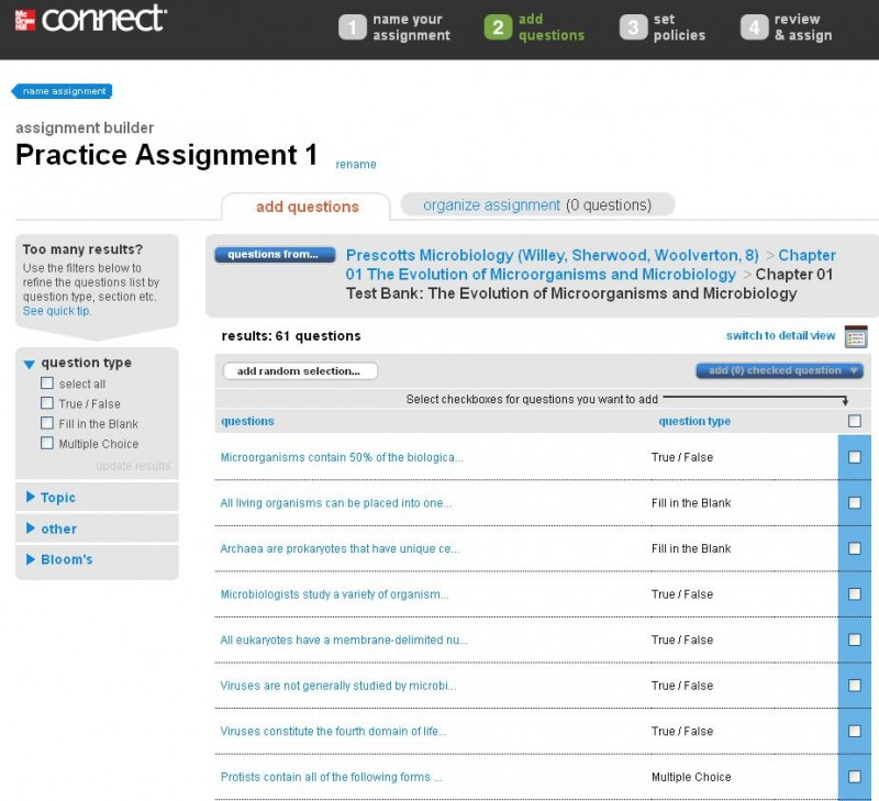 Mcgraw hill connect assignment answers